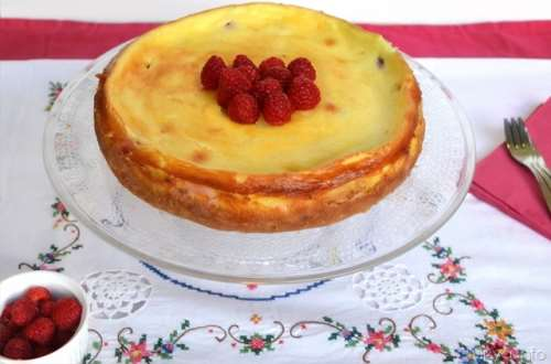 Cheesecake cotto ricette Cheesecake ai lamponi