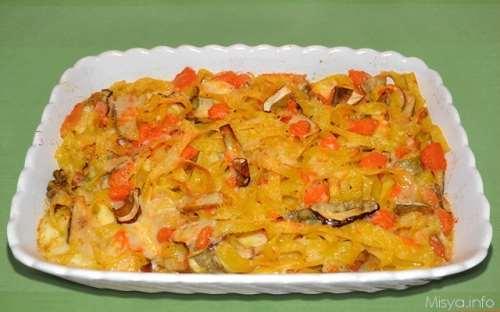 Ricette  Tagliatelle con zucca e porcini