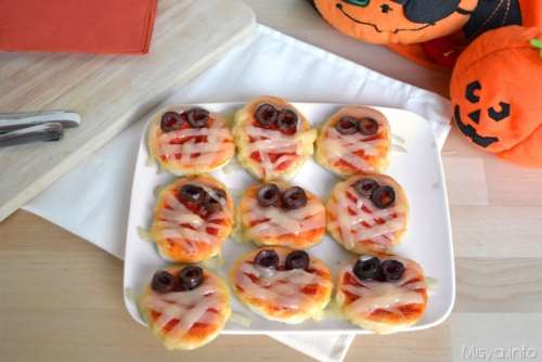 Finger food ricette Pizzette mummia