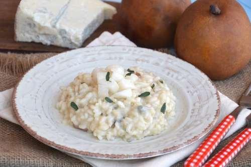 ricette Risotto pere e gorgonzola