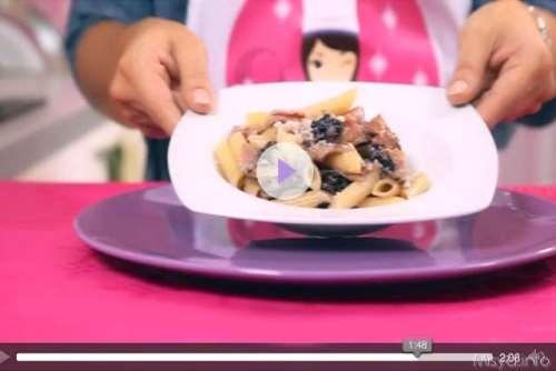 Ricette primi piatti Videoricetta pasta con radicchio e gorgonzola