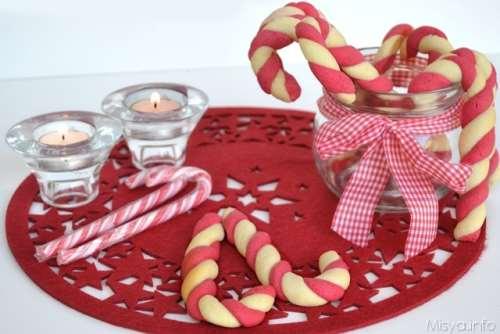 Ricette delle feste Candy cane cookies
