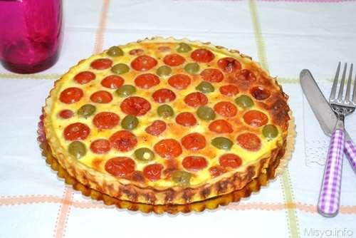 Ricette Torte salate Quiche salata ai pomodorini e olive