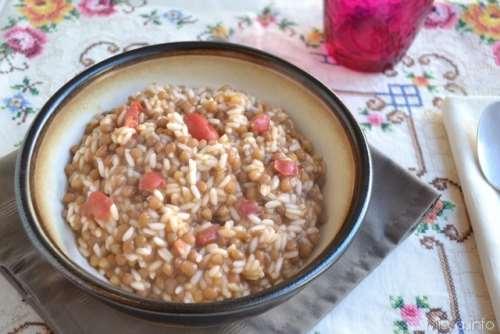 Ricette Minestre e zuppe Riso e lenticchie