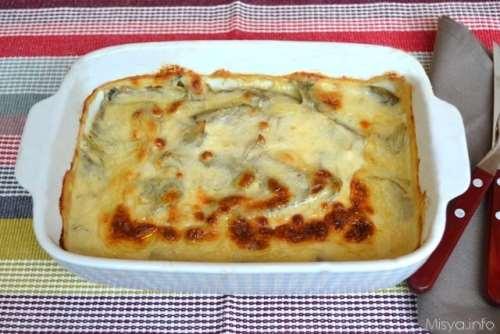 Ricette  Parmigiana di carciofi bianca