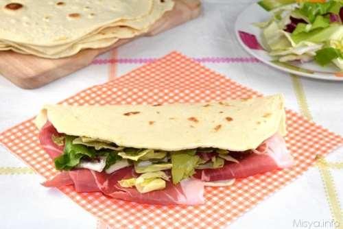 regionali ricette Piadina