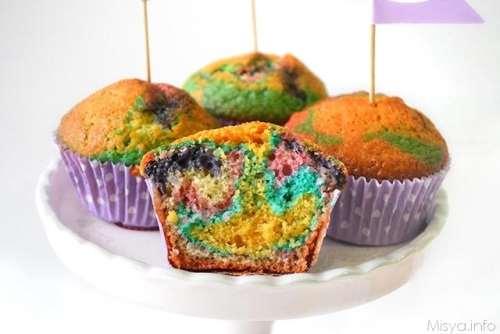 Ricette Muffin dolci Muffin arlecchino