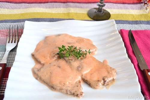 Scaloppine rosa al mascarpone