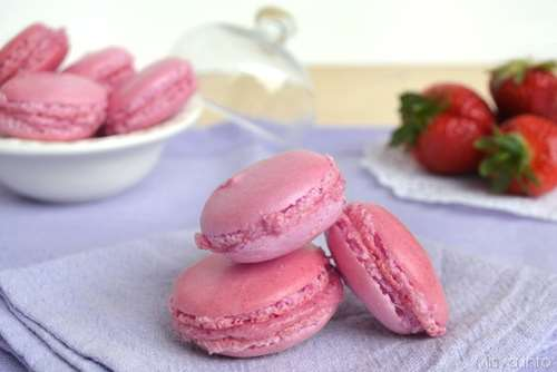 ricette Macarons alle fragole