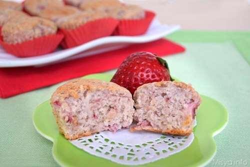 Muffin dolci ricette Muffin albumi e fragole