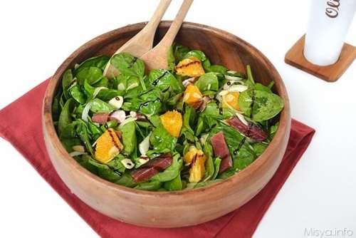 Ricette Insalate Insalata di spinaci e arance
