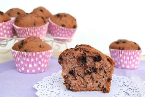 Ricette Muffin dolci Muffin fragole e cioccolato