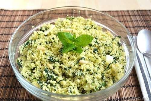 ricette Cous cous con spinaci e pinoli