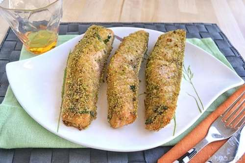 Filetto di salmone ai pistacchi