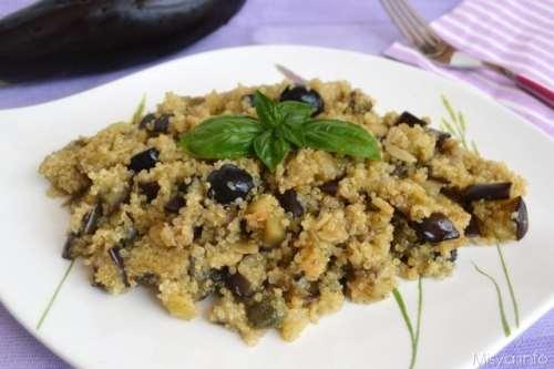 Ricette Insalate Insalata di quinoa e melanzane