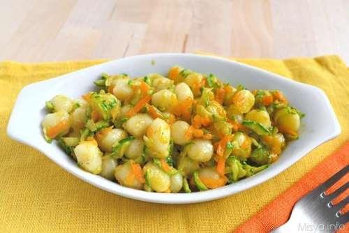 Ricette  Gnocchetti con zucchine e carote