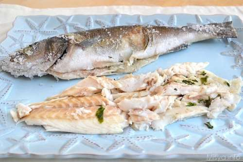 Ricette light Branzino al sale