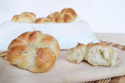 Pane e Brioches ricette Roselline di pane aromatico