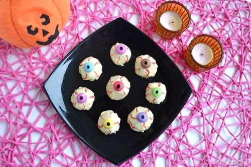 Dolci di Halloween ricette Occhi di strega