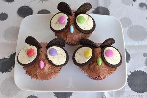 Ricette Dolci di Halloween Cupcakes gufetto