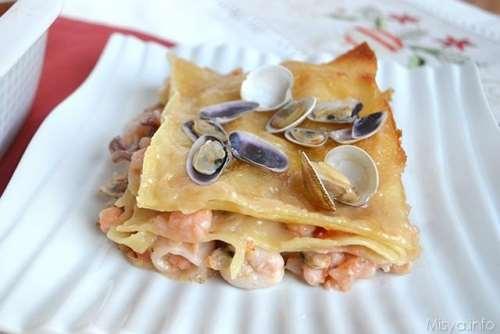 Ricette  Lasagne ai frutti di mare