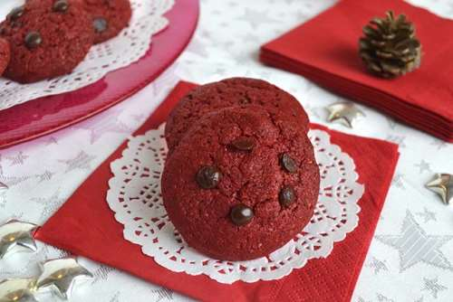 Ricette Biscotti Red velvet cookies