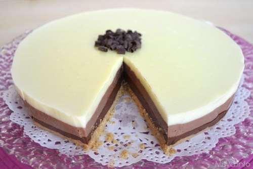 Ricette  Torta ai tre cioccolati bimby