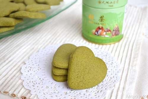 Biscotti semplici ricette Biscotti al tè matcha