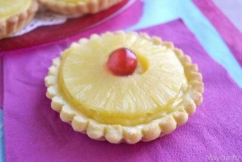 festa della donna ricette Crostatine all'ananas