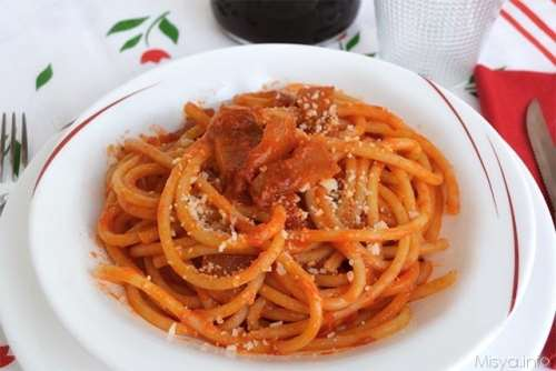 Ricette  Bucatini all'amatriciana