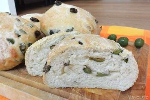 Vegetariane ricette Pane alle olive