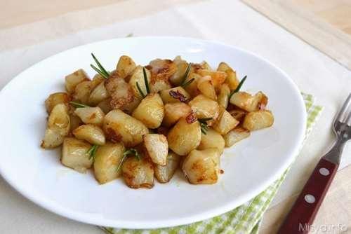 ricette Topinambur in padella