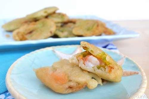 ricette Fiori di zucca e gamberi in pastella
