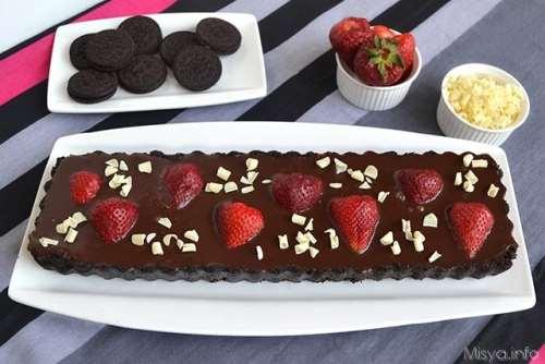 Ricette  Crostata cioccolato e fragole