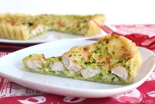 Torta salata con pollo e zucchine