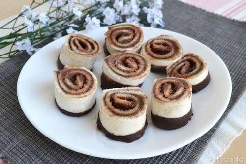 Girelle di pancarrè al cioccolato