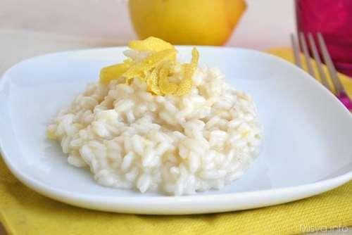 Ricette Riso Risotto al limone