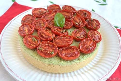Cheesecake al pesto e pomodorini bimby