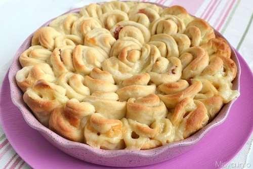 Pan brioche crisantemo
