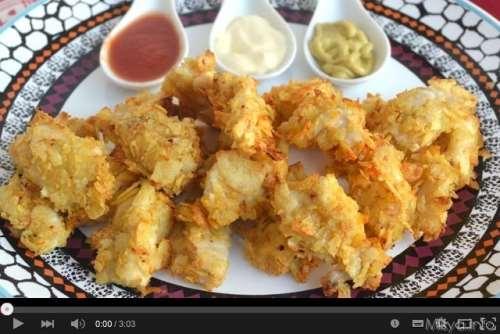 Ricette Secondi piatti Video ricetta pepite di pollo croccanti