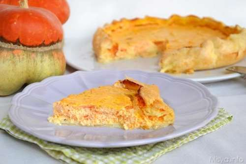 Rustici ricette Torta salata con zucca e ricotta