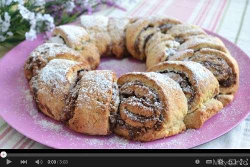 Video ricetta Corona alla Nutella