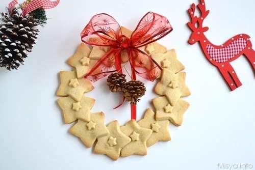 ricette Ghirlanda di biscotti
