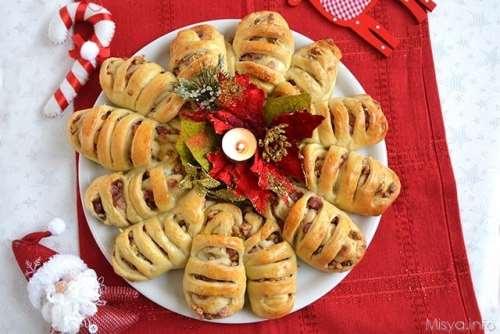 Brioches salate ricette Ghirlanda di pane