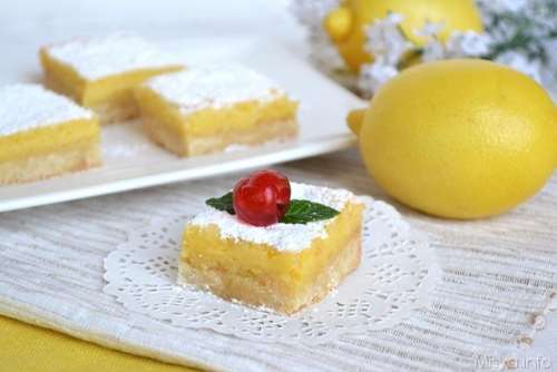 Crostate ricette Lemon bar