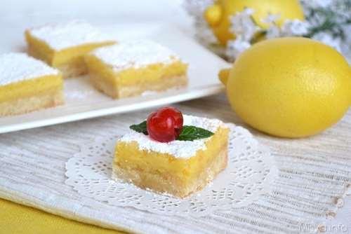 Ricette festa della donna Lemon bar