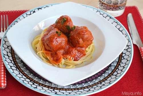 Ricette  Spaghetti con polpette