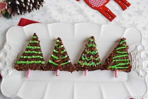 Brownies albero di Natale