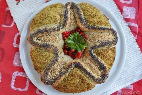 Corona di pane a stella