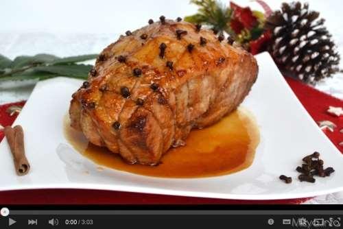 Videoricette ricette Video ricetta prosciutto glassato al miele